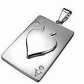 Urban Male Stainless Steel ACE Playing Card Pendant For Men