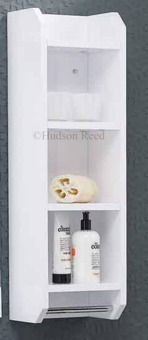 Hudson Reed High Gloss White Ellipse Shelf Unit