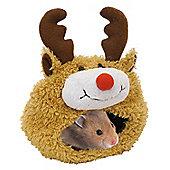 Boredom Breaker Christmas Reindeer Hamster Bed