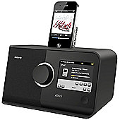 REVO AXIS WIFI/DAB/DAB+/FM INTERNET ALARM RADIO WITH TOUCHSCREEN & iPOD DOCK (WHITE)
