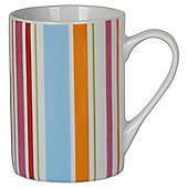 Tesco Bright Spot and Stripe Set of 4 Porcelain Mugs