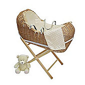 PreciousLittleOne Baby Pod Walnut Wicker (Dimple Cream)