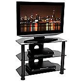 Tru-Vue F-TRU650 Black Glass TV Stand