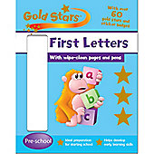 ELC Gold Stars First Letters Wipe Clean Activity Book