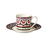 Pied A Terre Persia Jewels Espresso Cup And Saucer Multi