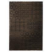 Esprit Hamptons Chocolate Brown Contemporary Rug - 140 cm x 200 cm (4 ft 7 in x 6 ft 7 in)
