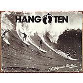 Surfing Hang Ten Tin Sign