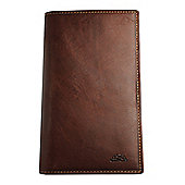 Tony Perotti Italian leather credit card jacket wallet, 16 credit card slots. Brown