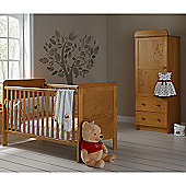 Obaby Winnie the Pooh Cot Bed and Single Wardrobe