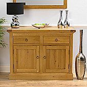Mark Harris Furniture Rustique 2 Door Sideboard in Solid Oak