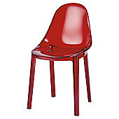 Palermo Stacking Chair Transparent Red