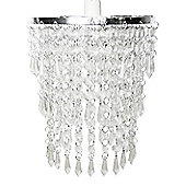 Three Tier Acrylic Crystal Ceiling Light Shade in Clear