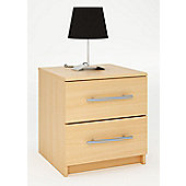 Altruna Washington 2 Drawer Bedside Table - Beech