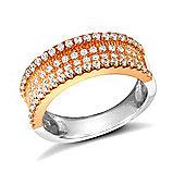 Rose Coated Sterling Silver Gemstone Ring