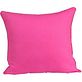 Homescapes Cotton Plain Cerise Scatter Cushion, 60 x 60 cm