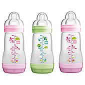 MAM Anti Colic 260ml Bottle 3pk Girl