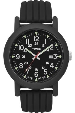 Timex Originals Ladies Rubber Strap Watch T2N719