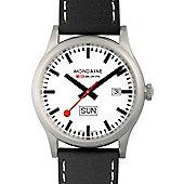 Mondaine Gents Black Leather Strap Watch A6673030816SBB