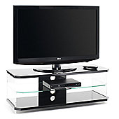 "Techlink Air Acrylic and Glass 55"" TV Stand - Black"