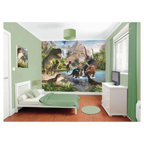Buy dinosaur land wallpaper mural 8ft x 10ft from our for Dinosaur land wallpaper mural