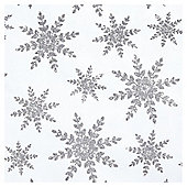 Luxury Flitter Snowflake Christmas Wrapping Paper, 3m