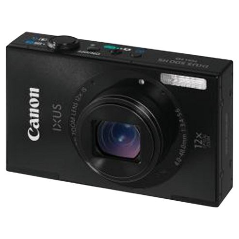 Canon Ixus 500 HS Black Digital Camera
