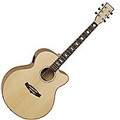 Tanglewood Evolution Exotic Jumbo Cutaway - Flame Maple