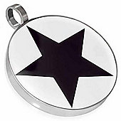 Urban Male Stainless Steel & Resin Star Pendant For Men