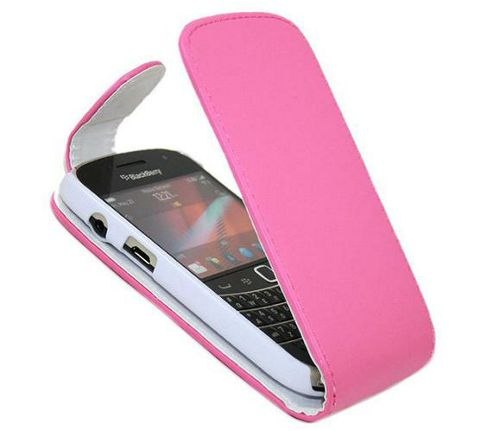 Pink FlipMatic Easy Clip On Vertical Pouch Case - BlackBerry 9900 Bold Touch