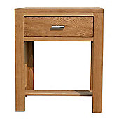 Home Zone Furniture Churchill Oak 2010 Small Console Table in Natural Oak