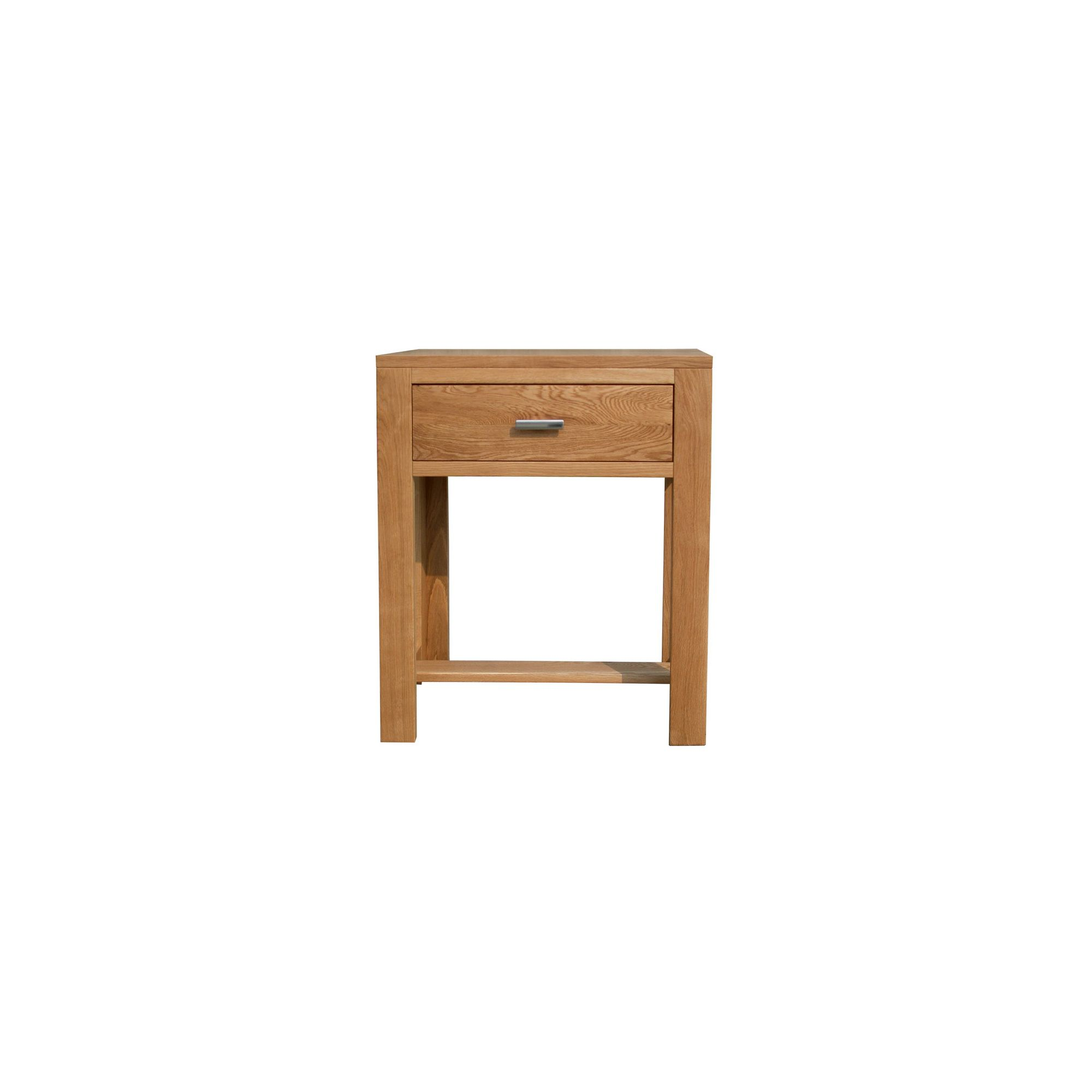 Home Zone Furniture Churchill Oak 2010 Small Console Table In Natural Oak Hall Tables For Your