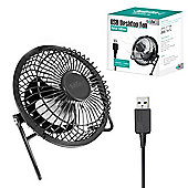 "Twitfish Metal USB Desk Fan 4"" - Black"