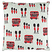 Best Of British Bus And Soldiers Cushion