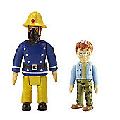 Fireman Sam Action Figures 2 Pack - Sam in Mask and Norman