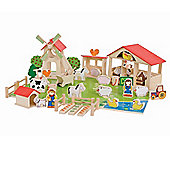 Bigjigs Toys BJ415 Play Farm