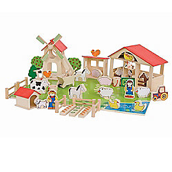 Bigjigs Toys BJ415 Play Farm