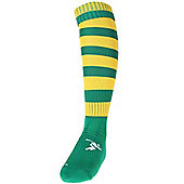 Precision Training Hooped Pro Football Socks Mens Green/Gold
