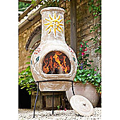 Sun & Flower Clay Chimenea