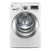 LG RC7066A2Z Condenser Tumble Dryer, 7 Kg Load, B Energy Rating, White.