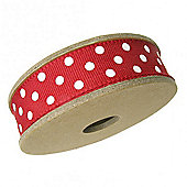 Ribbon Reel - Dotty White with Red