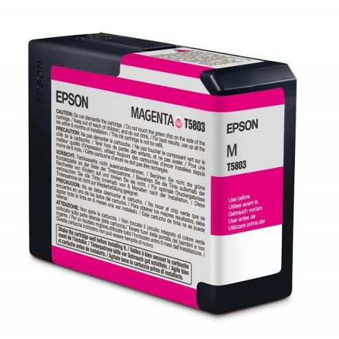 Epson T580A High Capacity Ink Cartridge - 80 ml (Vivid Magenta) for Epson Stylus Pro 3880