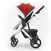 Tutti Bambini Riviera Plus Silver Pushchair - Coral Red / Aqua
