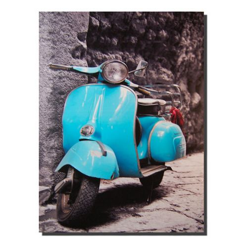 Novus Imports Blue Scooter Canvas Print