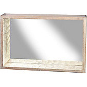 Parlane Large Wall Hanging Box Mirror With Capiz Inner - 60 x 40 x 10cm