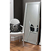 Frameless Bevelled Large Leaner Modern Wall Mounted Mirror 165 X 78Cm Rectangle