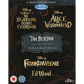 Tim Burton Blu-Ray Collection (4 Discs) - The Nightmare Before Christmas, Alice In Wonderland, Frankenweenie, Ed Wood (New To Blu)