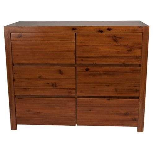 Anisha 6 Drawer Chest, Solid Wood