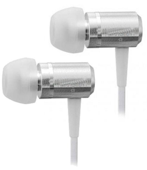 U-Bop SlimLINE Stereo Earphones with built in MIC - White