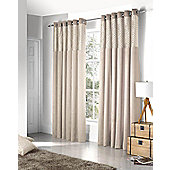 Savoy Ready Made Eyelet Curtains- Fully Lined - Black, Cream, Red & Silver - Cream