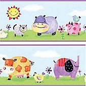 Wallpaper Border - Polkadot Piggy